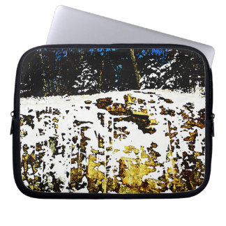 Rock Formation in the Snow Laptop Computer Sleeve