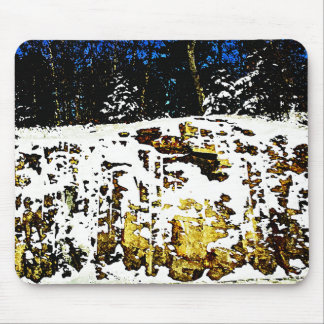 Rock Formation in the Snow Mouse Pad
