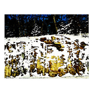 Rock Formation in the Snow Postcard
