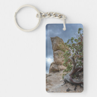 Rock Formation, Mt. Lemmon (add cell ph# on back) Keychain