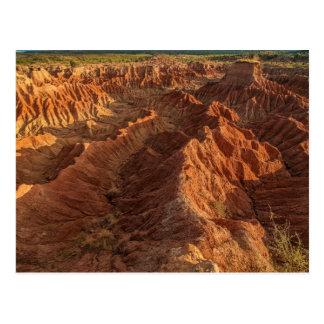 Rock formation of the desert of Tatacoa Postcard