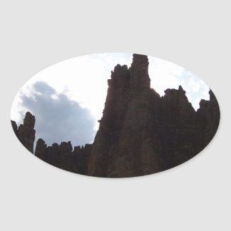 Rock Formation Oval Sticker