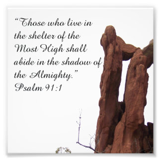 Rock Formation Psalm 91:1 Encouraging Bible Print