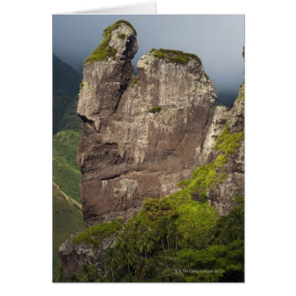 Rock formations after the Bay of Virgins, island Greeting Card