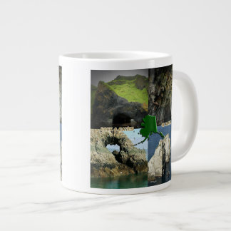 Rock Formations and Caves in Alaska Collage Giant Coffee Mug