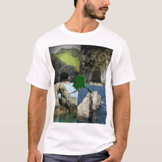 Rock Formations and Caves in Alaska Collage T-Shirt