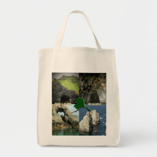 Rock Formations and Caves in Alaska Collage Tote Bag