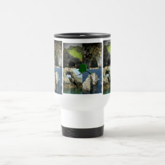 Rock Formations and Caves in Alaska Collage Travel Mug