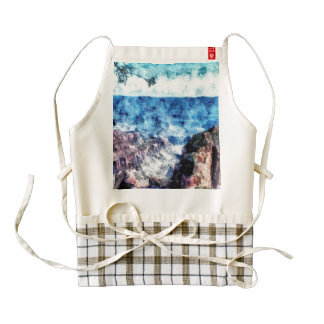 Rock formations at Grand Canyon Zazzle HEART Apron