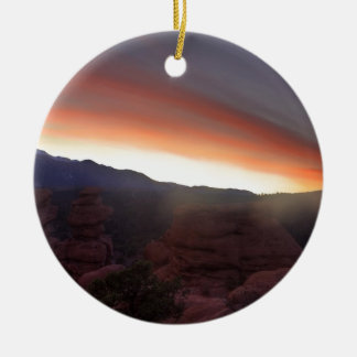 Rock Formations at Sunset Ceramic Ornament