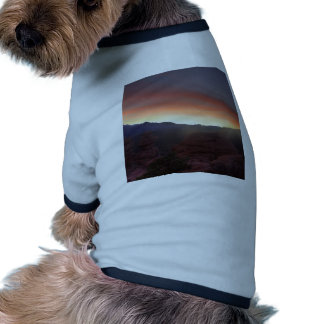 Rock Formations at Sunset Dog T Shirt