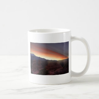 Rock Formations at Sunset Classic White Coffee Mug