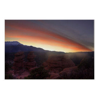 Rock Formations at Sunset Poster