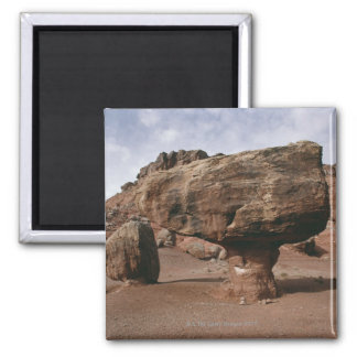 Rock formations in Marble Canyon, Utah 2 Inch Square Magnet