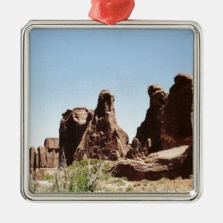 Rock Formations in Utah Metal Ornament