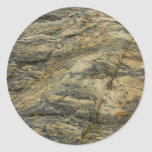 Rock from Joshua Tree Brown Grey Natural Abstract Classic Round Sticker
