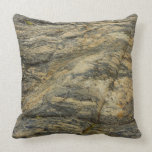 Rock from Joshua Tree Brown Grey Natural Abstract Throw Pillow