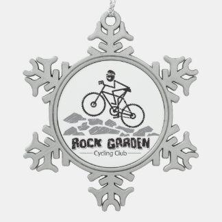 Rock Garden Snowflake Pewter Christmas Ornament
