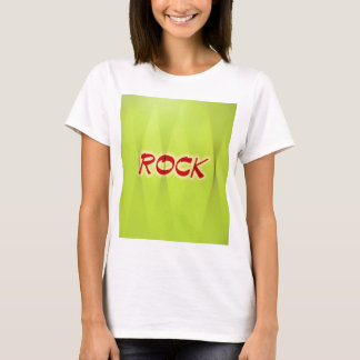 Rock Green Florescent Design Style Fashion T-Shirt
