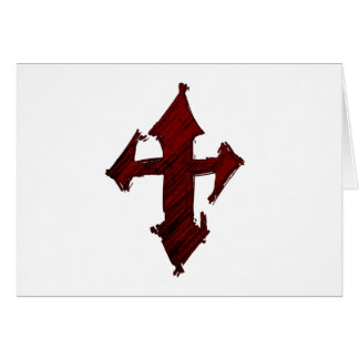 Rock Grunge Christian Cross Card