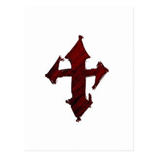 Rock Grunge Christian Cross Postcard
