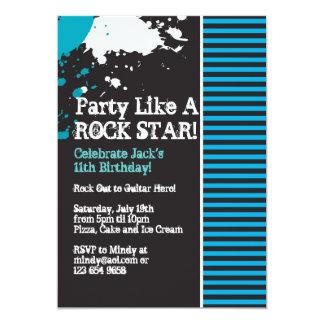 Rock, Grunge, Punk, Boy Party Invitation