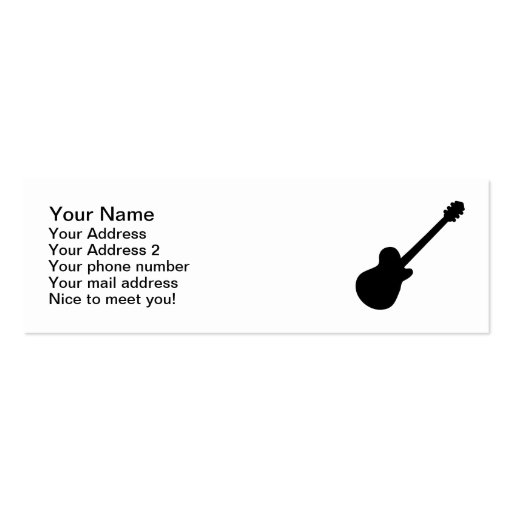 Rock Guitar Business Card Templates