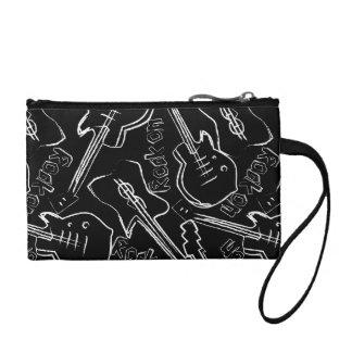 Rock guitar coin purse