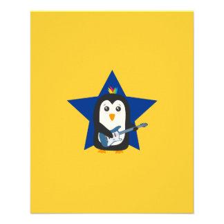 Rock Guitar Penguin Flyer