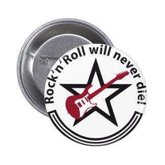 rock guitar pin redondo de 2 pulgadas