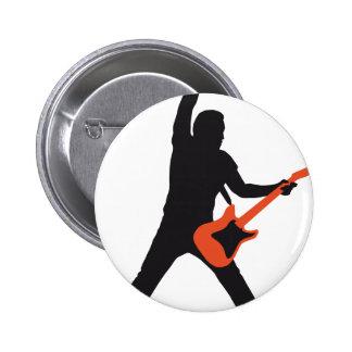 rock guitar player pin