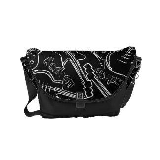 Rock guitar small messenger bag