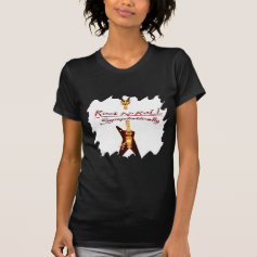 Rock Guitar Symbol Tee Shirt