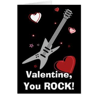 Rock Guitar Valentine Black Card