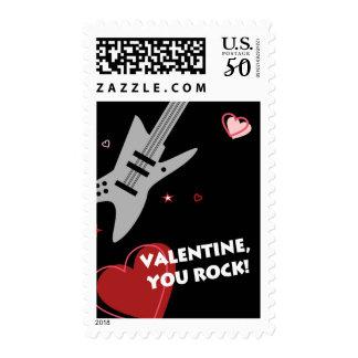 Rock Guitar Valentine Black Postage