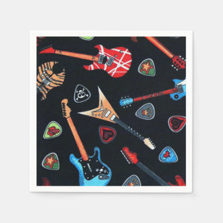 Rock Guitars Pattern Paper Napkins