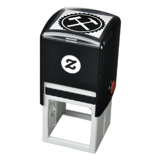 Rock Hammer Badge Self-inking Stamp
