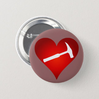 Rock Hammer Heart Button