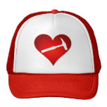 Rock Hammer Heart Print Trucker Hat