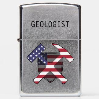 Rock Hammer Shield- USA Flag Zippo Lighter