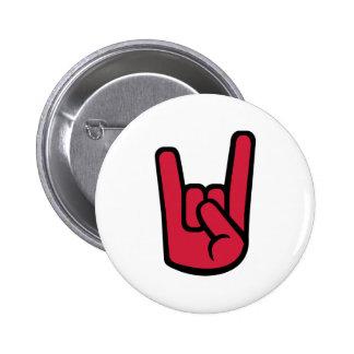 Rock Hand 2 Inch Round Button