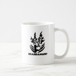 rock hand-banger-white shirt coffee mug
