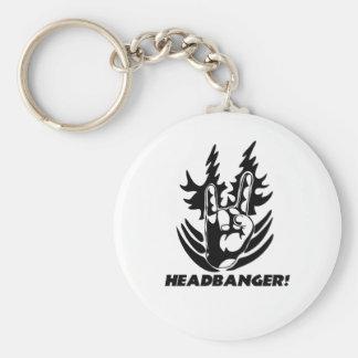 rock hand-banger-white shirt keychain
