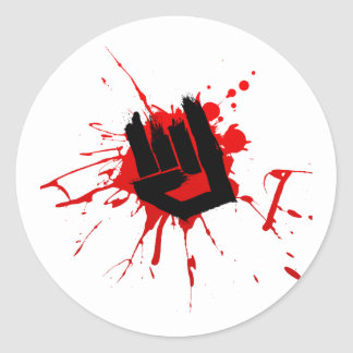 Rock Hand - Emo Rock Music Band Alternative Metal Stickers