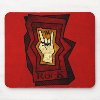 Rock Hand Mouse Pad