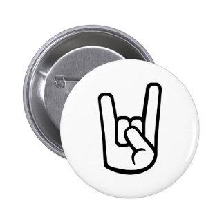 Rock Hand sign 2 Inch Round Button