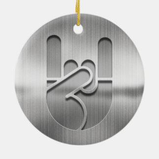 Rock Hand Steel Ceramic Ornament