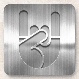 Rock Hand Steel Coaster