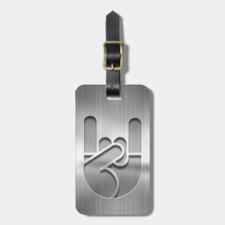 Rock Hand Steel Luggage Tag