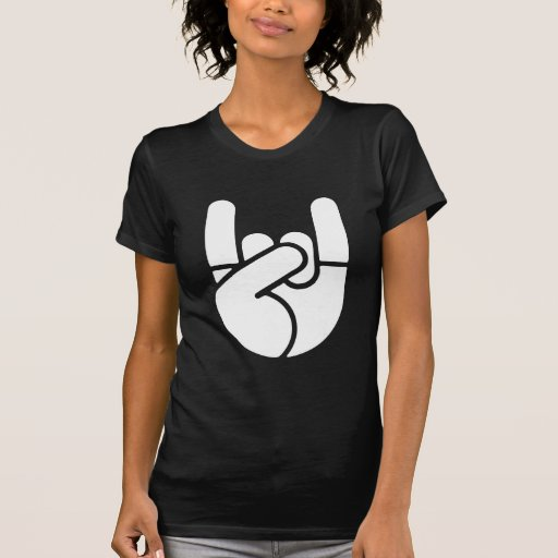 Rock Hand Stencil Shirts